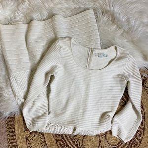 Boden Libby Textured Knit A-Line Wool Blend Dress